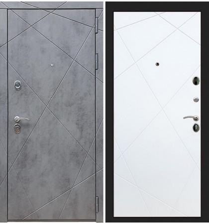 Входная дверь Лекс Соната Штукатурка графит / Белый софт (панель №117)