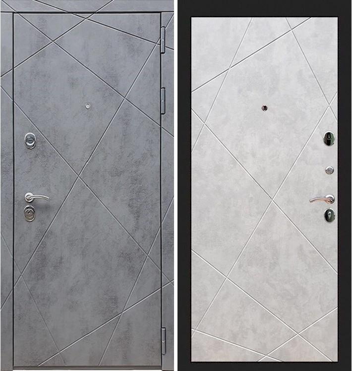 Входная дверь Лекс Соната Штукатурка графит / Бетон светлый (панель №117)