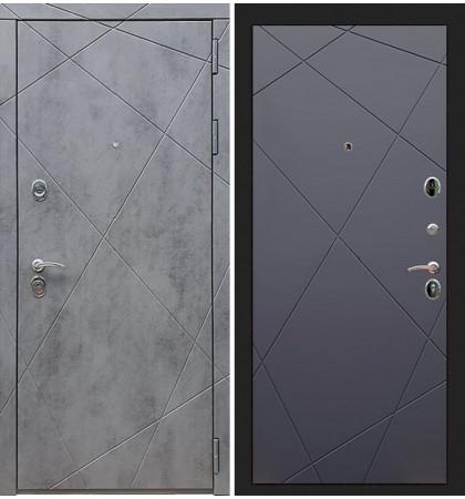 Входная дверь Лекс Соната Штукатурка графит / Графит софт (панель №117)