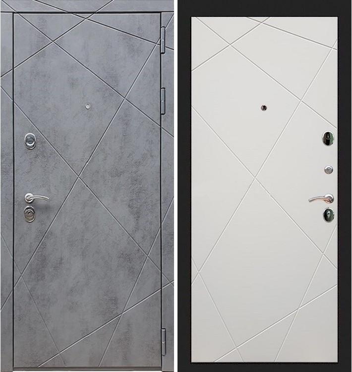 Входная дверь Лекс Соната Штукатурка графит / Шампань софт (панель №117)