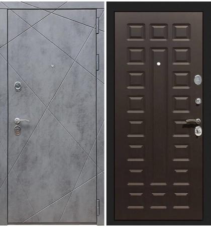 Входная дверь Лекс Соната Штукатурка графит / Венге (панель №21)