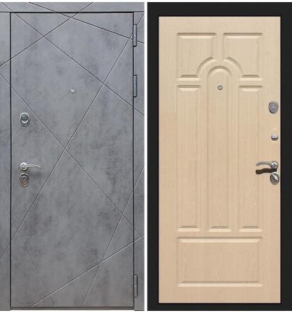 Входная дверь Лекс Соната Штукатурка графит / Беленый дуб (панель №25)