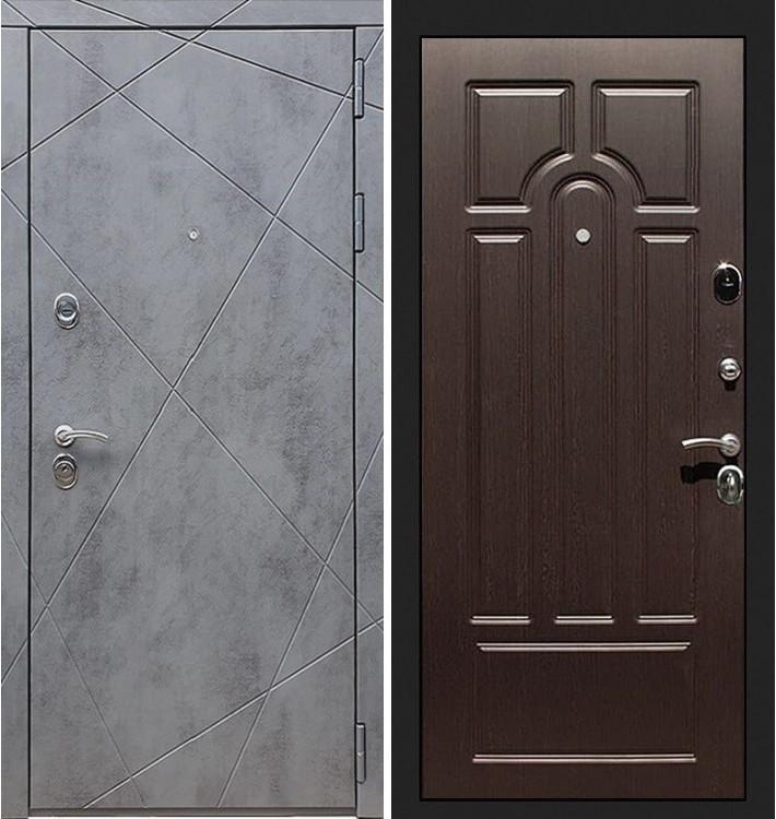 Входная дверь Лекс Соната Штукатурка графит / Венге (панель №32)