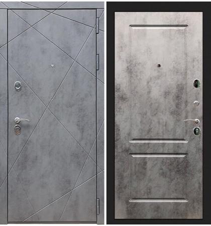 Входная дверь Лекс Соната Штукатурка графит / Бетон светлый (панель №5)