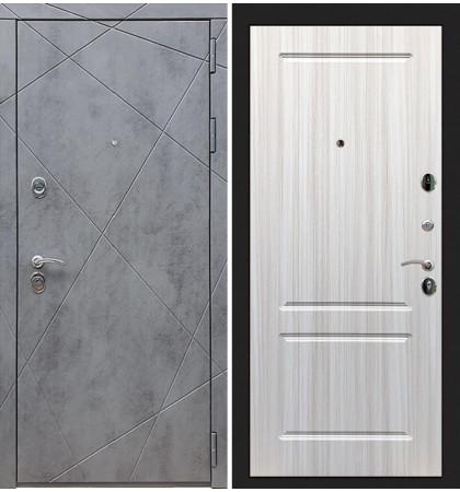 Входная дверь Лекс Соната Штукатурка графит / Сандал белый (панель №5)