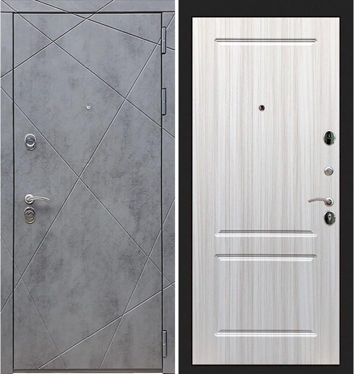 Входная дверь Лекс Соната Штукатурка графит / Белый софт (панель №5)