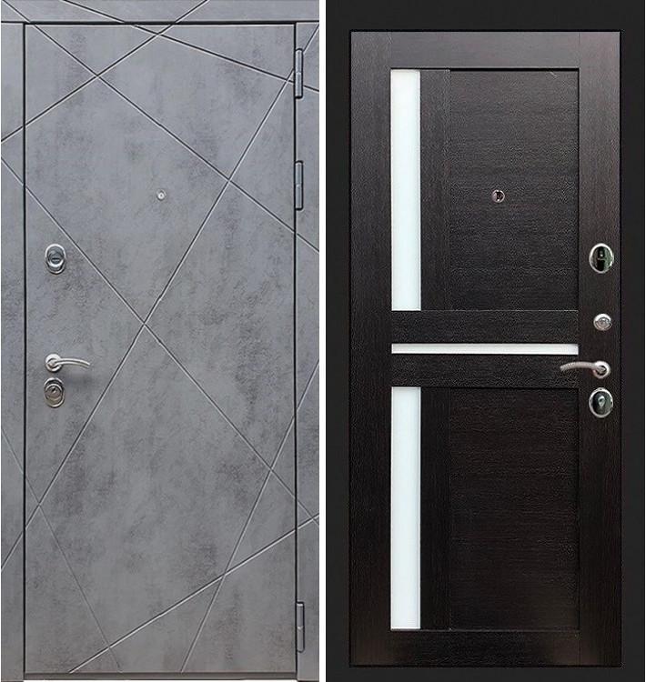 Входная дверь Лекс Соната Штукатурка графит / Венге со вставками (панель №35)