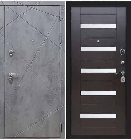 Входная дверь Лекс Соната Штукатурка графит / Венге со вставками (панель №51)