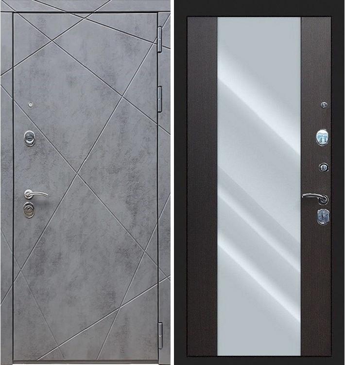 Входная дверь Лекс Соната Штукатурка графит / Стиль Венге (панель №61)