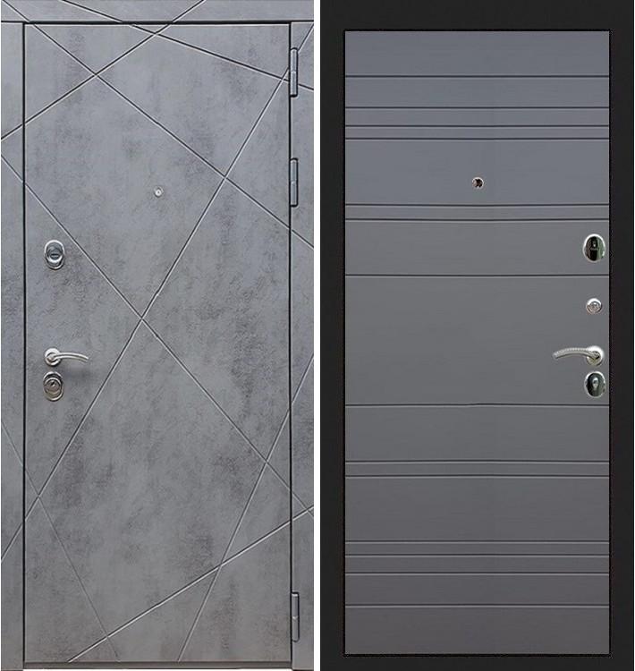 Входная дверь Лекс Соната Штукатурка графит / Графит софт (панель №63)