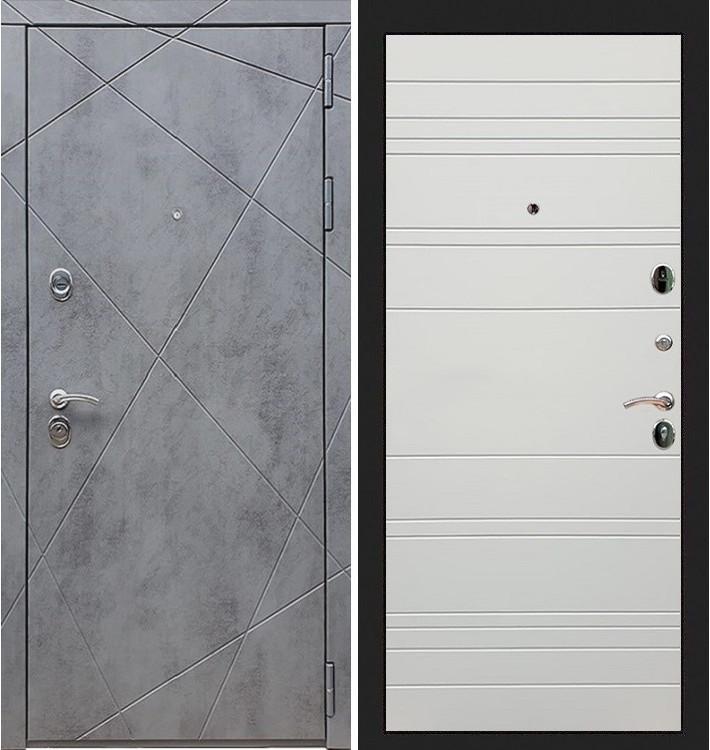 Входная дверь Лекс Соната Штукатурка графит / Шампань софт (панель №63)