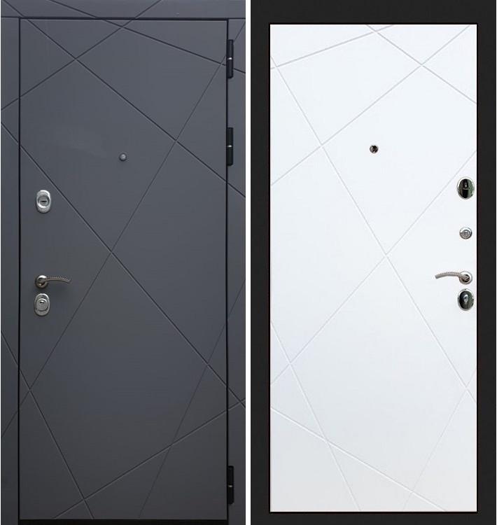 Входная дверь Лекс Соната Графит софт / Белый софт (панель №117)