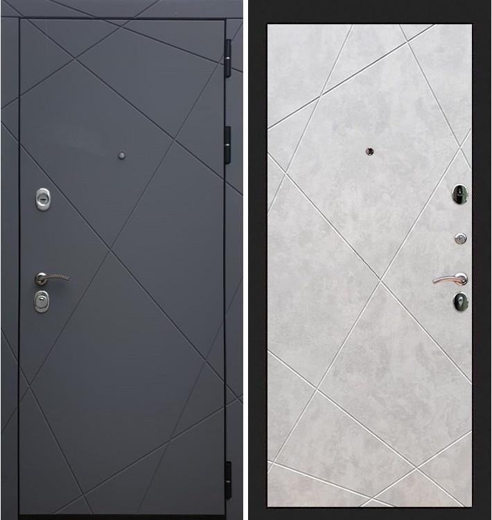 Входная дверь Лекс Соната Графит софт / Бетон светлый (панель №117)