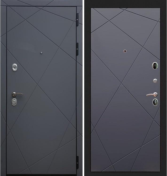 Входная дверь Лекс Соната Графит софт / Графит софт (панель №117)