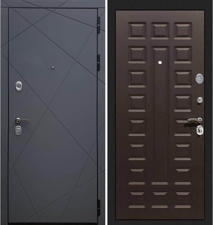 Входная дверь Лекс Соната Графит софт / Венге (панель №20)