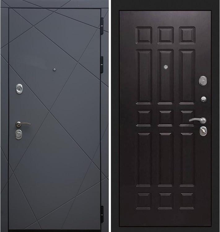 Входная дверь Лекс Соната Графит софт / Венге (панель №29)