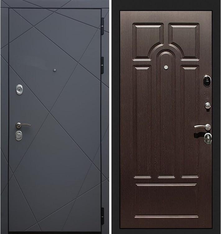 Входная дверь Лекс Соната Графит софт / Венге (панель №32)