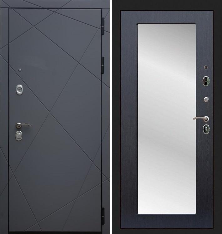 Входная дверь Лекс Соната Графит софт / с зеркалом Венге (панель №37)