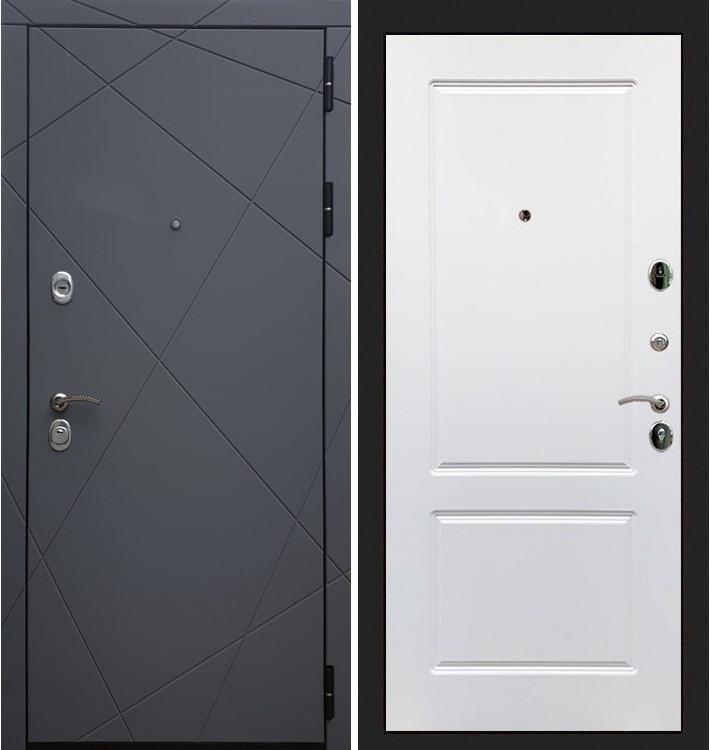 Входная дверь Лекс Соната Графит софт / Белый софт (панель №5)