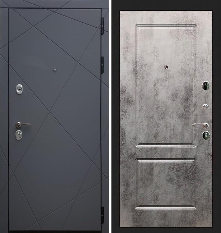 Входная дверь Лекс Соната Графит софт / Бетон светлый (панель №5)