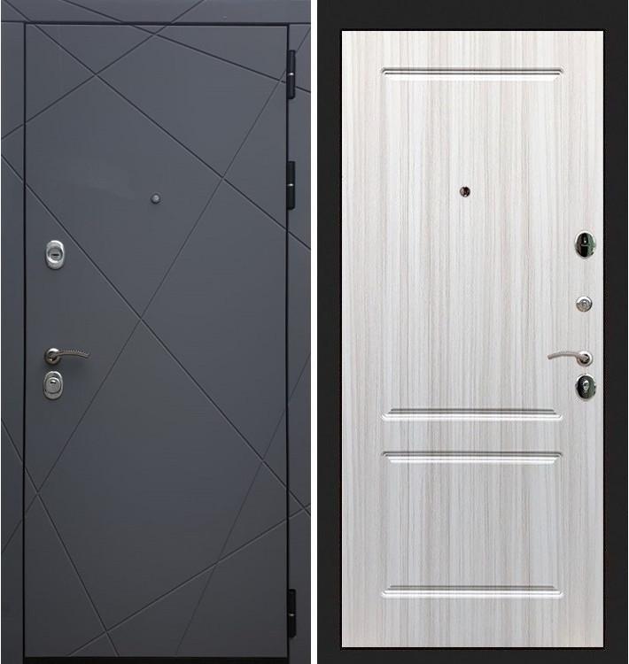 Входная дверь Лекс Соната Графит софт / Сандал белый (панель №5)