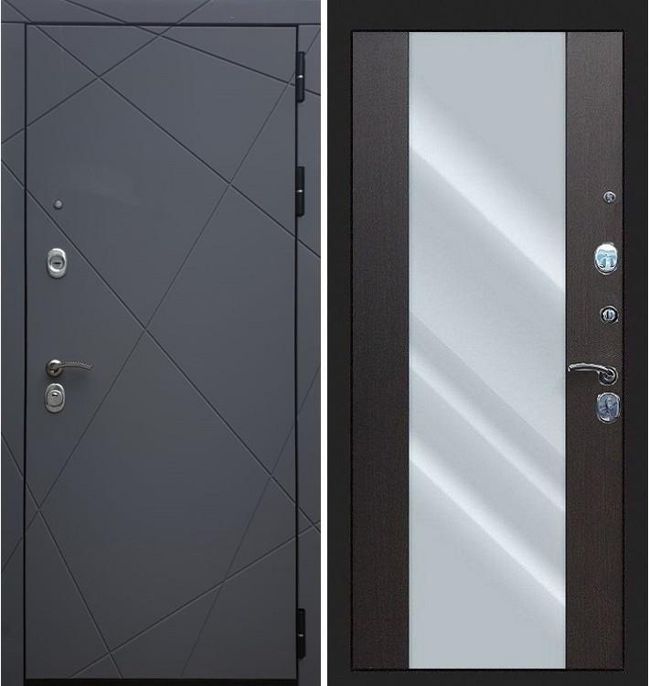 Входная дверь Лекс Соната Графит софт / Стиль Венге (панель №61)