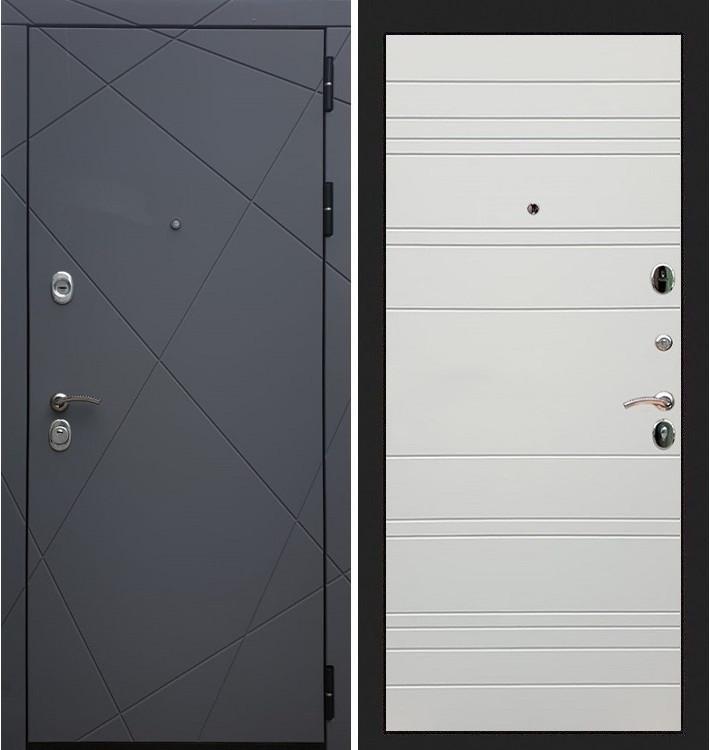 Входная дверь Лекс Соната Графит софт / Шампань софт (панель №63)
