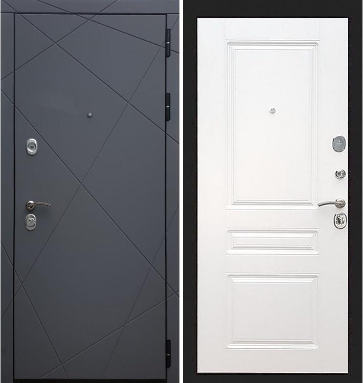Входная дверь Лекс Соната Графит софт / Белый софт (панель №94)