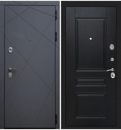 Входная дверь Лекс Соната Графит софт / Венге (панель №94)