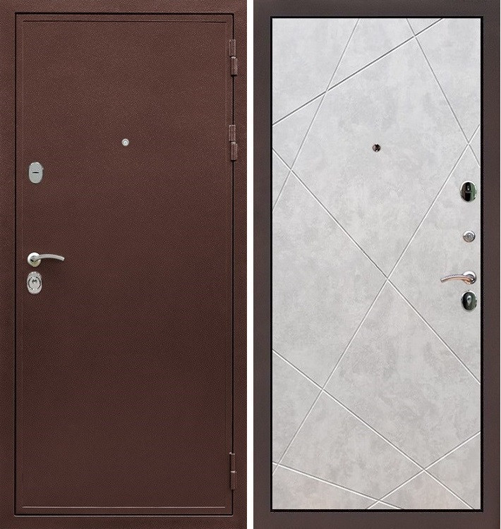 Входная дверь Цезарь 5А / Бетон светлый (панель №117)