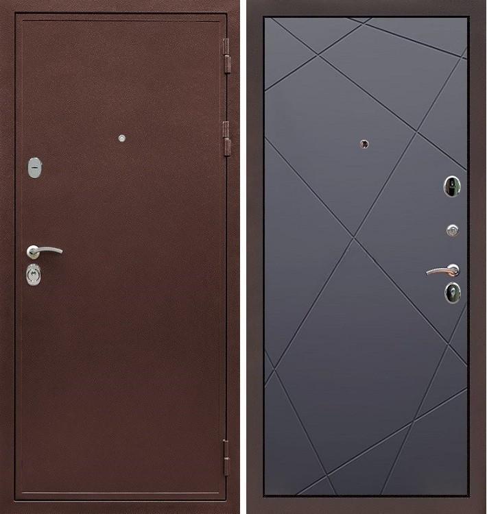 Входная дверь Цезарь 5А / Графит софт (панель №117)