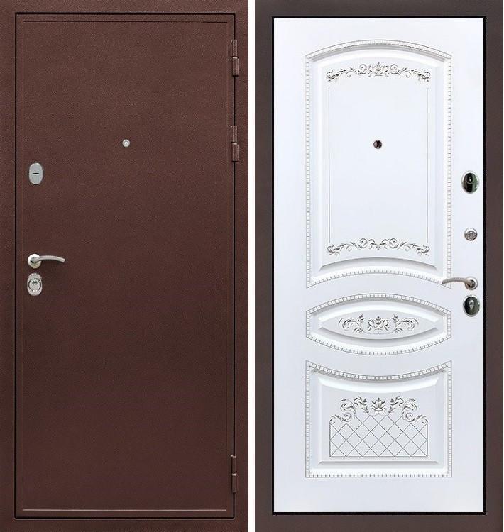 Входная дверь Цезарь 5А / Белая золотая патина (панель №120)