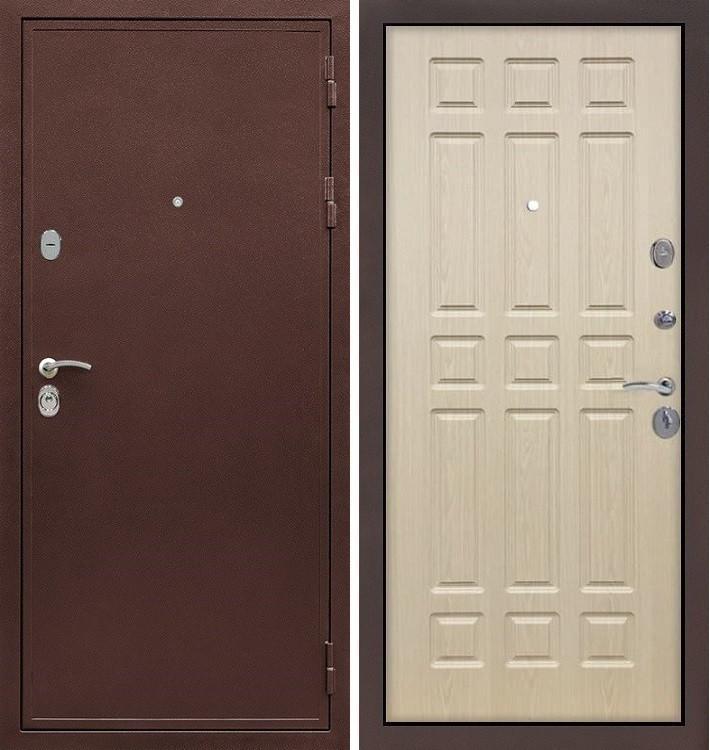 Входная дверь Цезарь 5А / Беленый дуб (панель №28)