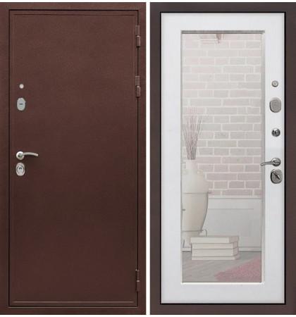Входная дверь Цезарь 5А / с зеркалом Белый ясень (панель №37)