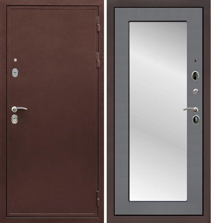 Входная дверь Цезарь 5А / с зеркалом Графит софт (панель №37)
