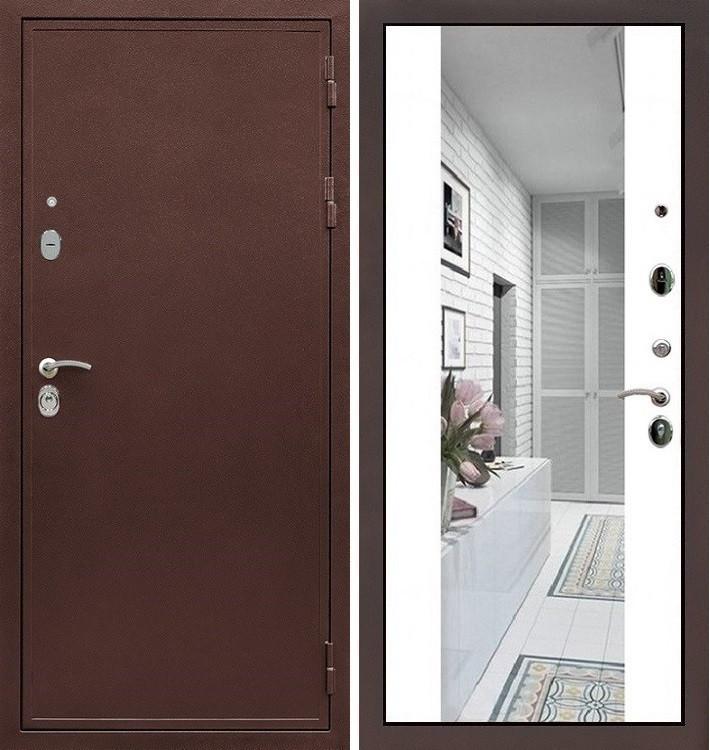 Входная дверь Цезарь 5А / Стиль Белый софт (панель №61)