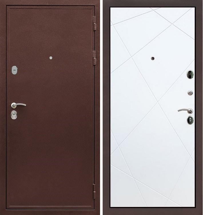 Входная дверь Цезарь 5А / Белый софт (панель №117)