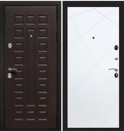 Входная дверь Гладиатор / Белый софт (панель №117)