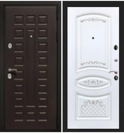 Входная дверь Гладиатор / Белая золотая патина (панель №120)