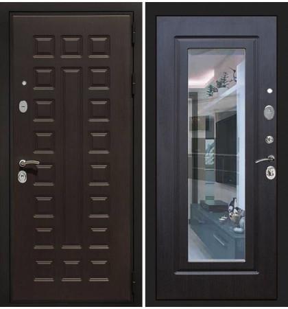 Входная дверь Гладиатор / с зеркалом Венге (панель №22)