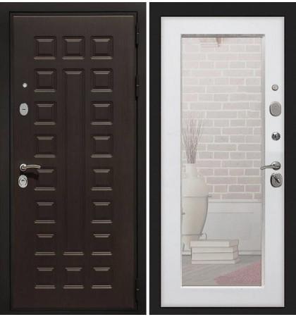 Входная дверь Гладиатор / с зеркалом Белый ясень (панель №37)