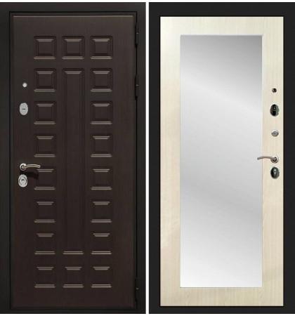Входная дверь Гладиатор / с зеркалом Лиственница беж (панель №37)
