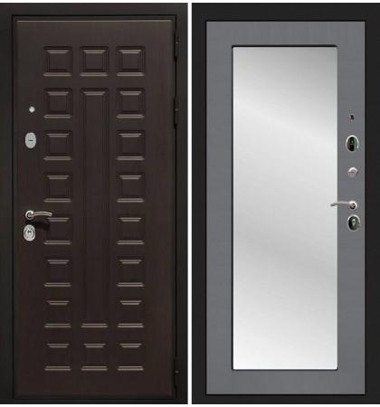 Входная дверь Гладиатор / с зеркалом Графит софт (панель №37)