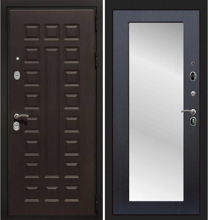 Входная дверь Гладиатор / с зеркалом Венге (панель №30)