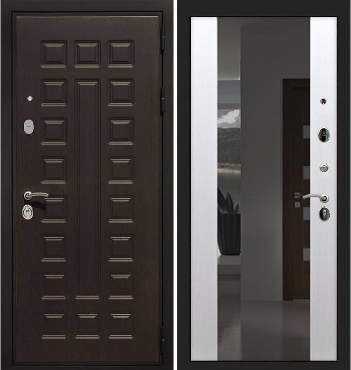 Входная дверь Гладиатор / Стиль Белый ясень (панель №61)