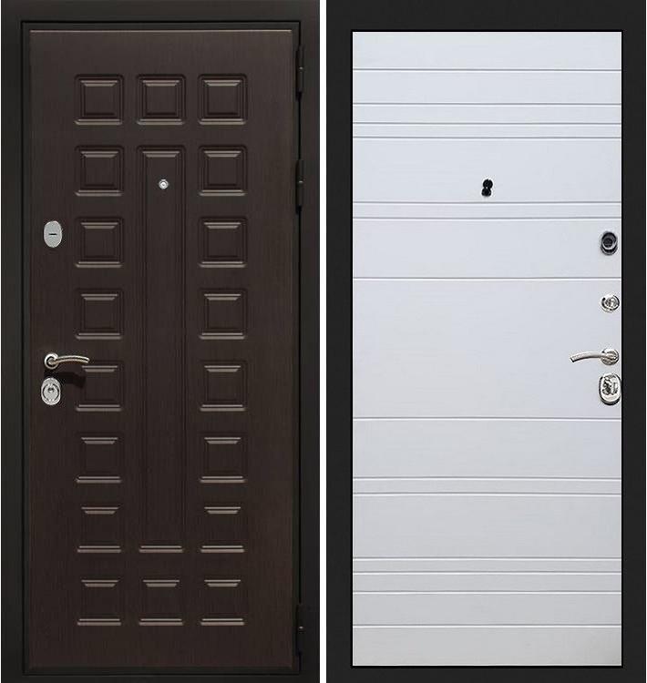 Входная дверь Гладиатор / Белый софт (панель №63)