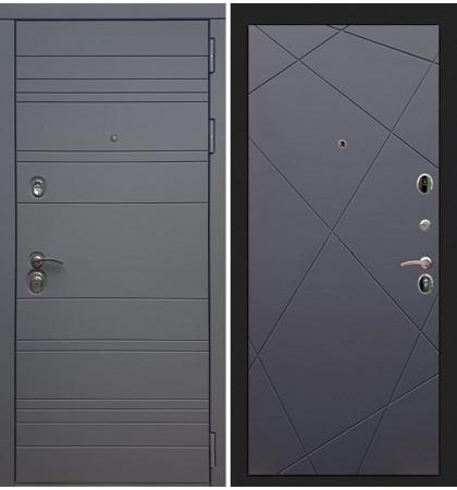 Входная дверь Сенатор 3К Графит софт / Графит софт (панель №117)