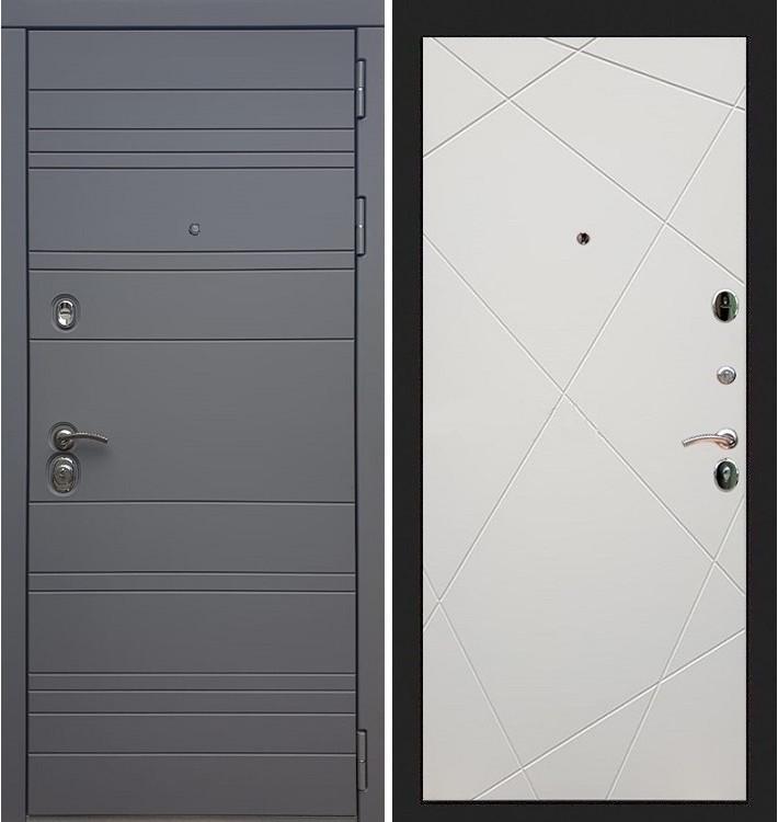 Входная дверь Сенатор 3К Графит софт / Шампань софт (панель №117)