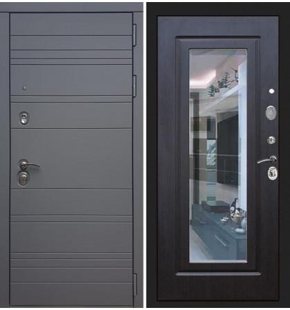 Входная дверь Сенатор 3К Графит софт / с зеркалом Венге (панель №22)