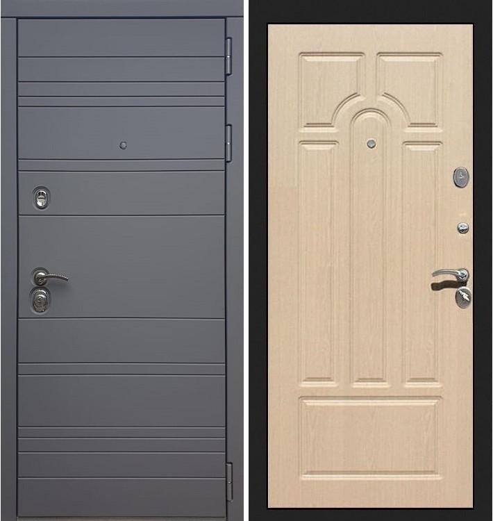 Входная дверь Сенатор 3К Графит софт / Беленый дуб (панель №25)